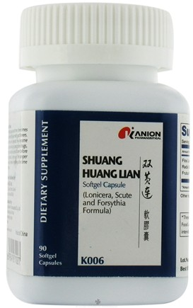 DROPPED: Honso Usa - Kanion Shuang Huang Lian (Lonicera, Scute and Forsythia Formula) - 90 Softgels CLEARANCED PRICED