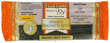 DROPPED: Tinkyada Pasta - Brown Rice Pasta Spaghetti Spinach - 12 oz.