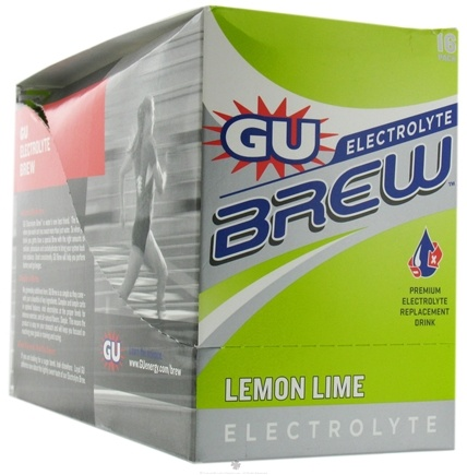 DROPPED: GU Energy - GU Electrolyte Brew Lemon Lime - 16 Packet(s) CLEARANCE PRICED