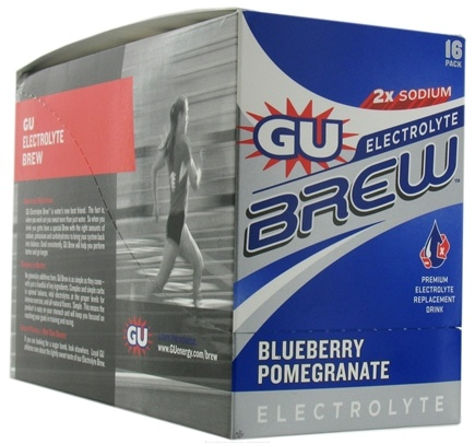 DROPPED: GU Energy - GU Electrolyte Brew Blueberry Pomegranate - 16 Packet(s)