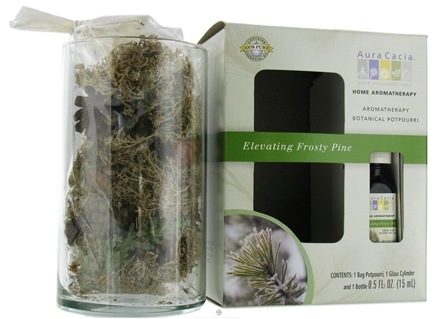 DROPPED: Aura Cacia - Aromatherapy Botanical Potpourri Elevating Frosty Pine - 0.5 oz. CLEARANCE PRICED