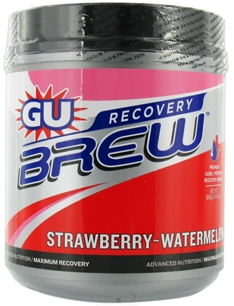 DROPPED: GU Energy - GU Recovery Brew Canister Strawberry Watermelon - 840 Grams CLEARANCE PRICED