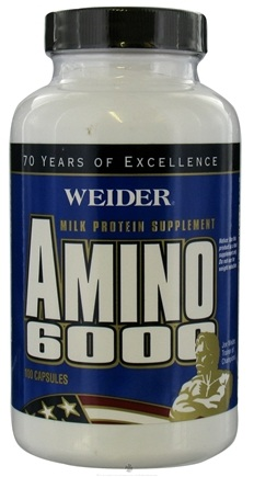DROPPED: Weider Health And Fitness - Amino 6000 - 100 Capsules