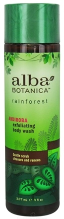 DROPPED: Alba Botanica - Rainforest Exfoliating Body Wash Andiroba - 8 oz. CLEARANCE PRICED