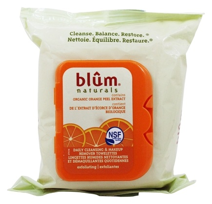 Blum Naturals - Daily Cleansing Towelettes with Exfoliating Microbeads - 30 Towelette(s)