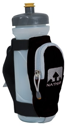 DROPPED: Nathan - 1 Bottle Quickdraw Plus Handheld Hydration Black - CLEARANCE PRICED