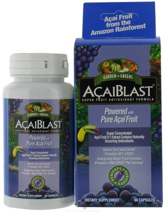 DROPPED: Garden Greens - AcaiBlast 500 mg. - 60 Vegetarian Capsules CLEARANCE PRICED