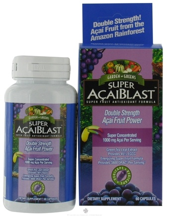 DROPPED: Garden Greens - Super AcaiBlast 1000 mg. - 60 Vegetarian Capsules