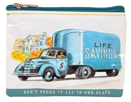 DROPPED: Blue Q - Life Savings Coin Purse - CLEARANCE PRICED