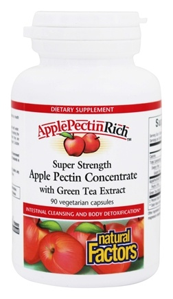 Natural Factors - Apple Pectin Rich Super Strength Apple Pectin Concentrate 500 mg. - 90 Vegetarian Capsules