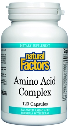 DROPPED: Natural Factors - Amino Acid Complex - 120 Capsules