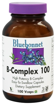 Bluebonnet Nutrition - B-Complex 100 High Potency - 100 Vegetarian Capsules