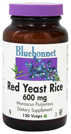 Bluebonnet Nutrition - Red Yeast Rice 600 mg. - 120 Vegetarian Capsules