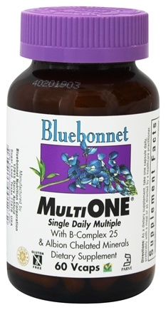 Bluebonnet Nutrition - Multi One Multivitamin & Multimineral - 60 Vegetarian Capsules