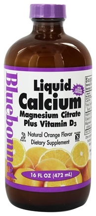 Bluebonnet Nutrition - Liquid Calcium Magnesium Citrate Plus Vitamin D3 Natural Orange Flavor - 16 oz.