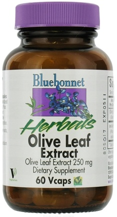 DROPPED: Bluebonnet Nutrition - Herbals Olive Leaf Extract 250 mg. - 60 Vegetarian Capsules