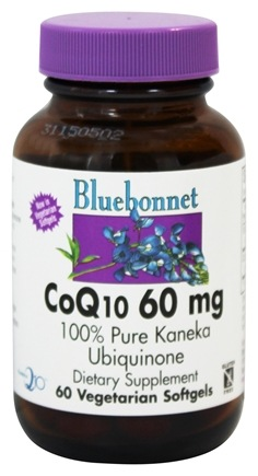 DROPPED: Bluebonnet Nutrition - CoQ10 Ubiquinone From Kaneka 60 mg. - 60 Softgels