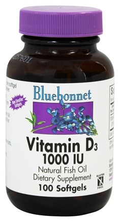 Bluebonnet Nutrition - Vitamin D3 1000 IU - 100 Softgels