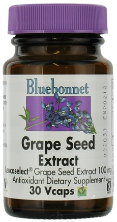 DROPPED: Bluebonnet Nutrition - Grape Seed Extract 100 mg. - 30 Vegetarian Capsules CLEARANCE PRICED