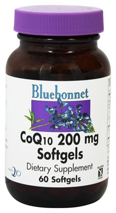 Bluebonnet Nutrition - CoQ10 Ubiquinone From Kaneka 200 mg. - 60 Softgels