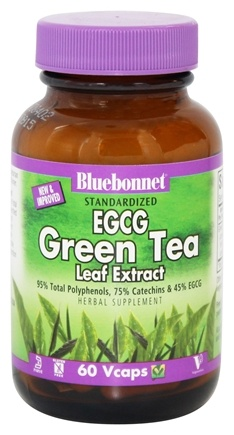 DROPPED: Bluebonnet Nutrition - Standardized EGCG Green Tea Leaf Extract - 60 Vegetarian Capsules