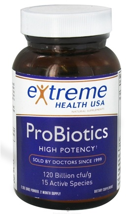 DROPPED: Extreme Health USA - Probiotics 120 Billion - 2.5 oz.