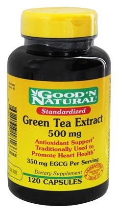 DROPPED: Good 'N Natural - Standardized Green Tea Extract Once Daily Formula 500 mg. - 120 Capsules
