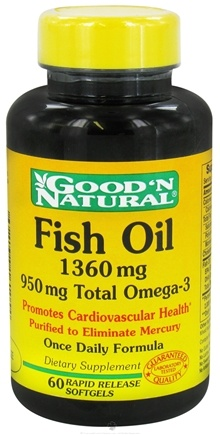Zoom View - Fish Oil with 950 mg. Total Omega-3 Once Daily Formula