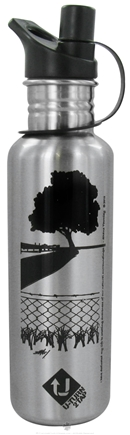 DROPPED: Conscious Containers - U Turn 2 Tap Stainless Steel Water Bottle ECO-REVERSAL Tree Black - 27 oz. CLEARANCE PRICED