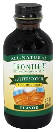 DROPPED: Frontier Natural Products - All-Natural Alcohol-Free Flavor Butterscotch - 2 oz.