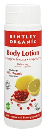 Bentley Organic - Body Lotion Balancing 90% Organic With Lemon Oil & Pomegranate Extract - 8.4 oz.