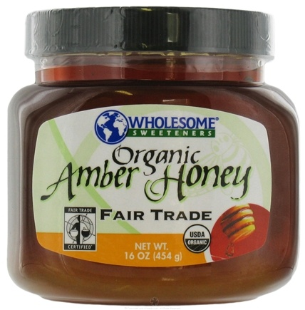DROPPED: Wholesome Sweeteners - Sweeteners Fair Trade Certified Organic Amber Honey - 16 oz. CLEARANCE PRICED