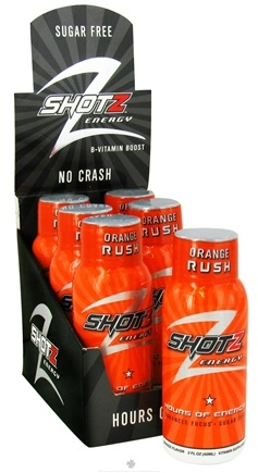 DROPPED: Shotz Energy - B-Vitamin Boost Energy Shot Drink Orange Rush - 2 oz. CLEARANCE PRICED