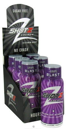 DROPPED: Shotz Energy - B Vitamin Boost Energy Shot Drink Grape Blast - 2 oz.