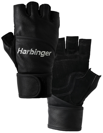 DROPPED: Harbinger - Classic WristWrap Lifting Gloves - Small Black - 1 Pair CLEARANCE PRICED