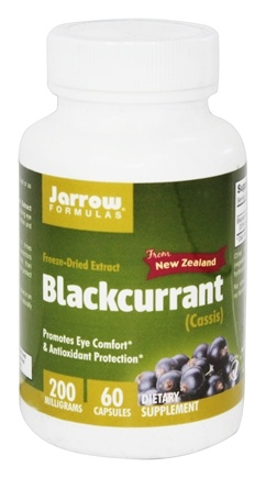 Jarrow Formulas - Blackcurrant Freeze-Dried Extract - 60 Vegetarian Capsules