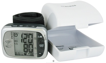 Zoom View - Automatic Wrist Blood Pressure Monitor with Voice Assist Talking Function