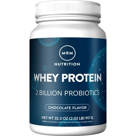 MRM - Natural Whey Protein Powder with Probiotics Dutch Chocolate 2 Billion CFU - 2.02 lbs.
