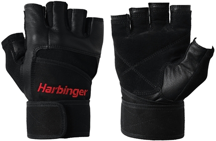 DROPPED: Harbinger - Pro WristWrap Lifting Gloves - Medium Black - 1 Pair CLEARANCE PRICED