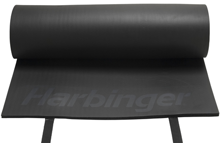 DROPPED: Harbinger - Rolled Durafoam Exercise Mat- Black - CLEARANCE PRICED