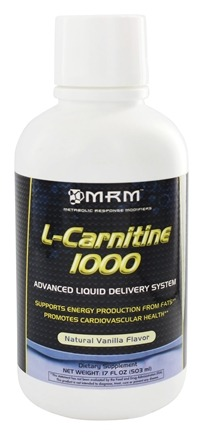 DROPPED: MRM - L-Carnitine Natural Vanilla 1000 mg. - 17 oz.