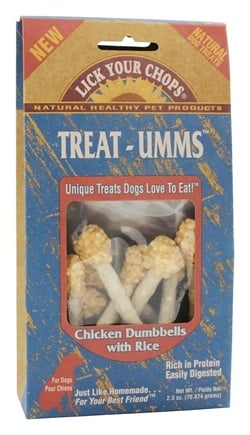 Zoom View - Dog Treats Treat-Umms Chicken Dumbbells With Rice