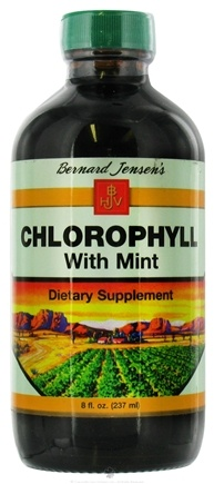 DROPPED: Bernard Jensen - Chlorophyll Liquid with Mint 70 mg. - 8 oz. CLEARANCE PRICED