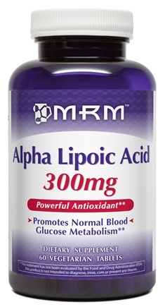 DROPPED: MRM - Alpha Lipoic Acid 300 mg. - 60 Vegetarian Tablets