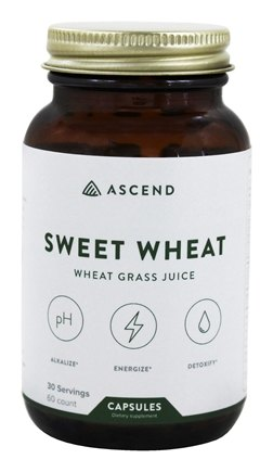 Brightcore Nutrition - Sweet Wheat Organic Wheat Grass Juice Powder - 60 Vegetarian Capsules