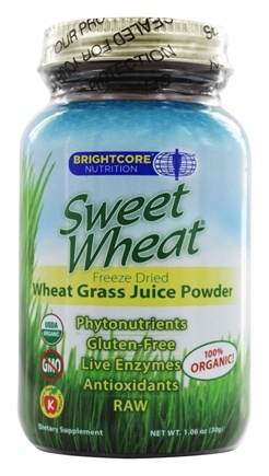 DROPPED: Brightcore Nutrition - Sweet Wheat Organic Wheat Grass Juice Powder - 30 Grams
