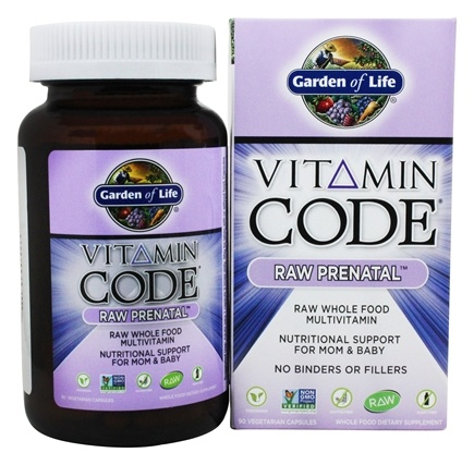 Buy garden of life vitamin code raw prenatal nutritional support for mom baby 90 for Garden of life vitamin code prenatal
