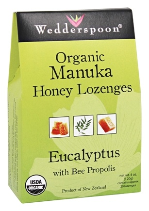 Wedderspoon - Organic Manuka Honey Lozenges Eucalyptus with Bee Propolis - 4 oz.