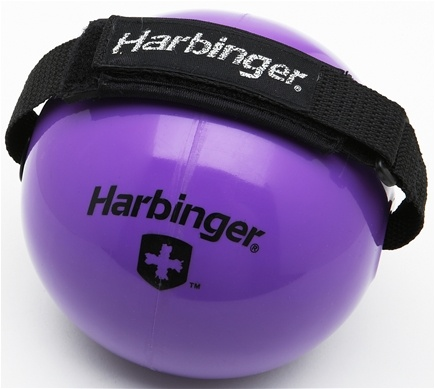 DROPPED: Harbinger - Weighted Fitness Ball With Velcro Strap Purple - 8 lbs. CLEARANCE PRICED