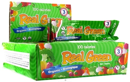 DROPPED: NOW Foods - Real Green Organic 100 Calorie Bars (40g.) - 16 Bars